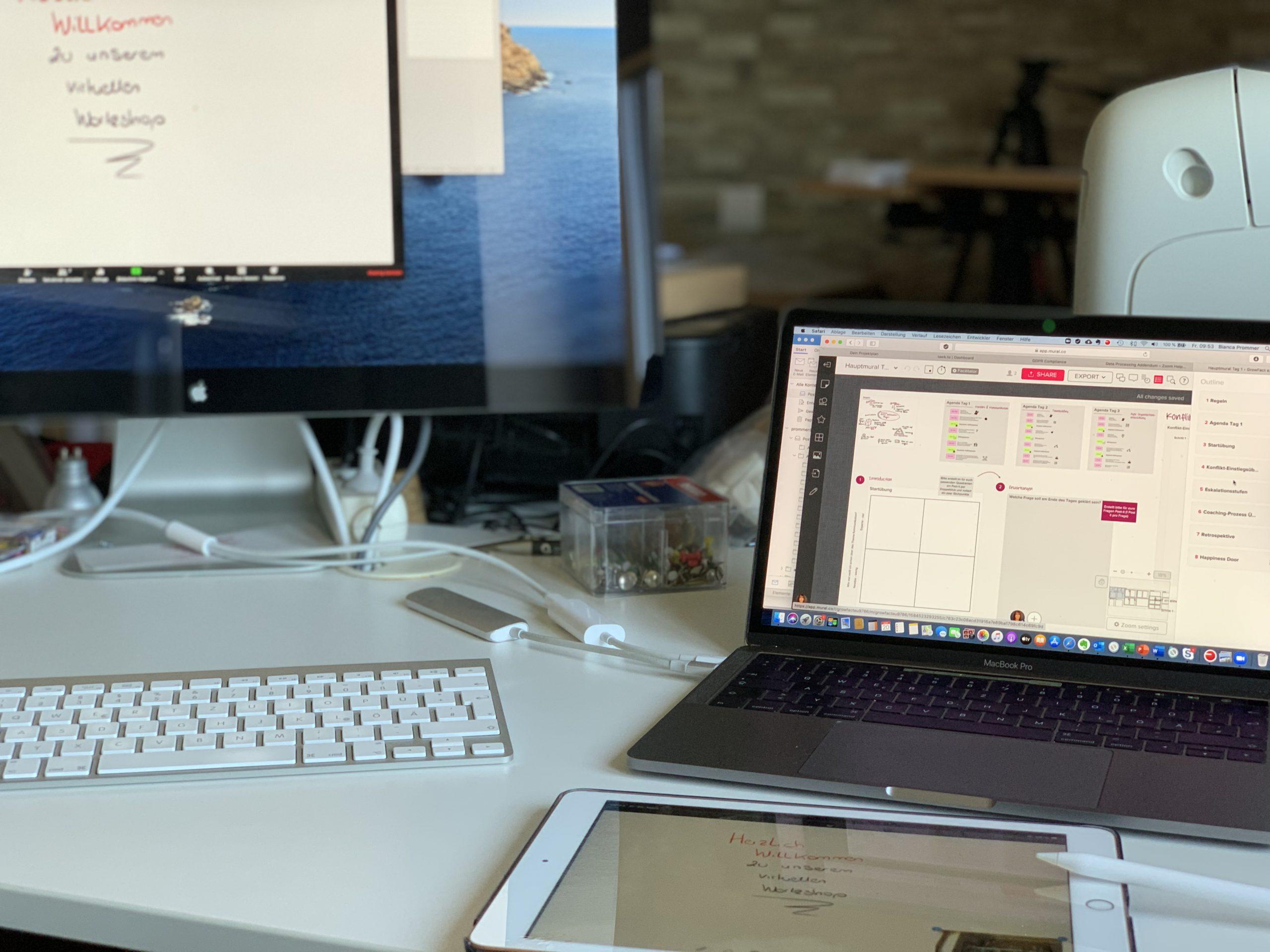Tipps rund um das Vorbereiten und Durchführen von virtuellen Workshops und Onlinetrainings.