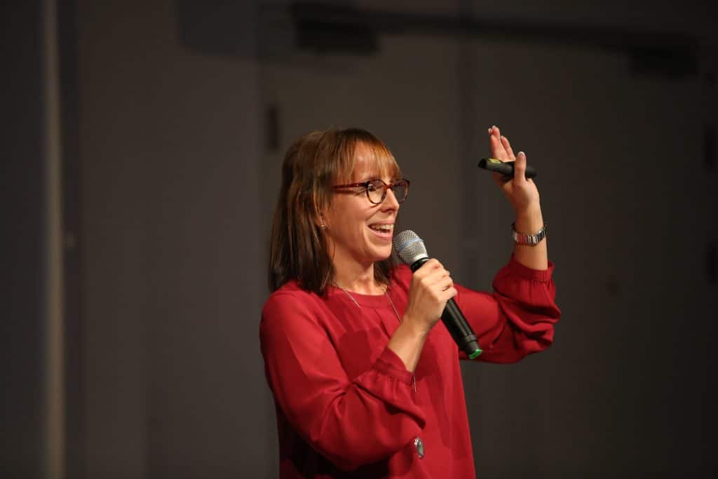 Bianca Prommer hält Vorträge über Innovationsmanagement